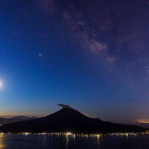 月と星と火山