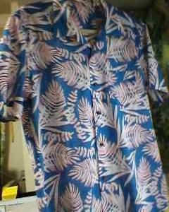 夫の浮かれた開襟シャツ、出来ました