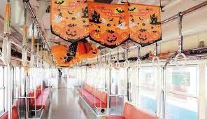 恒例ハロウィン電車出発