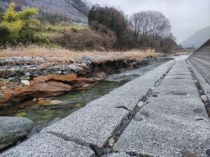 甲斐の雪中山女~笹子川と葛野川~