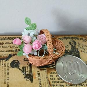 ライトピンクの薔薇のバスケット…色々作ってみました