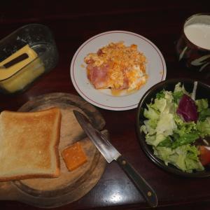 予定は未定にして、、、 男の朝食