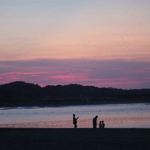 今日のお目覚  太東海岸の夕焼け