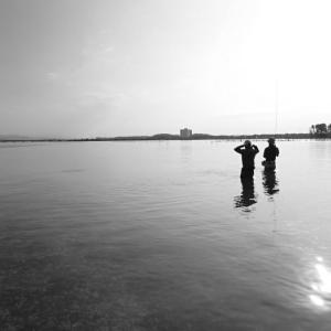 真夏の浜名湖で初心者育成