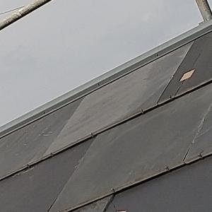 【足場の上】石屋根の最終確認【屋根の上は暑い】