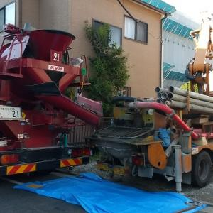 【基礎工事中】耐圧コンクリート打設【強度の確認】