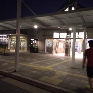 夜の米原駅