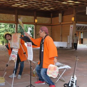 2019-8(夏休み企画)富山 護国神社のみの市で紙芝居