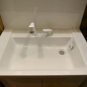 洗面化粧台を安く設置しましたぁ