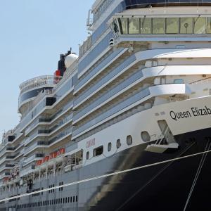 英国女王船、秋田港に初寄港2(秋田県秋田市)