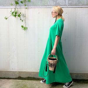 再入荷♡綺麗なグリーンのTeeドレス