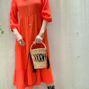 ★SALE★ 綺麗なオレンジのスモッグドレスもセールだよ !