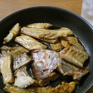 お魚、食べきりました