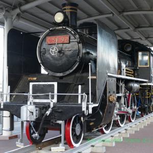 ■出水駅前の保存SL■C56形92号機