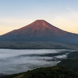 高座山の夜明け