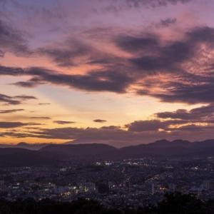 弘法山からの夕景