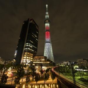 ラクビーワールドカップ日本大会記念ライトアップ