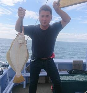 9月9日ヒラメ 小樽遊漁船シェイク
