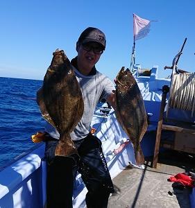 9月10日ヒラメ 小樽釣り船シェイク