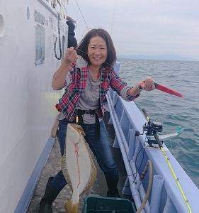 9月14日ヒラメ 小樽つり船シェイク