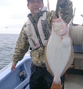 9月16日ヒラメ 小樽遊漁船シェイク