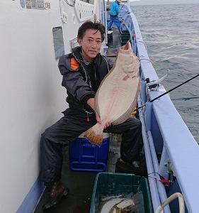 9月18日ヒラメ 小樽遊漁船シェイク