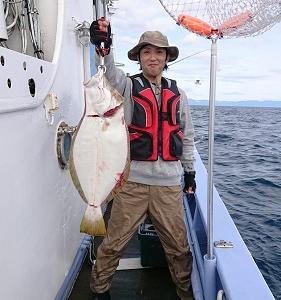 9月22日ヒラメ 小樽遊漁船シェイク