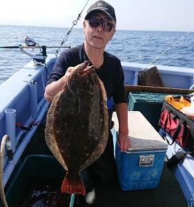 9月30日ヒラメ 小樽釣り船シェイク