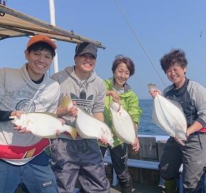 10月1日ヒラメ 小樽遊漁船シェイク