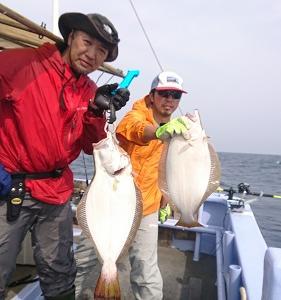 10月3日ヒラメ 小樽遊漁船シェイク