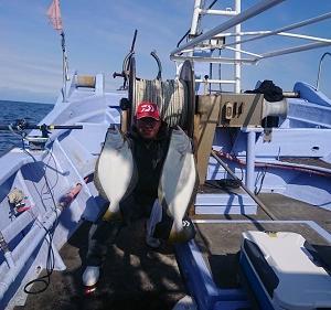 10月14日ヒラメ 小樽釣り船シェイク