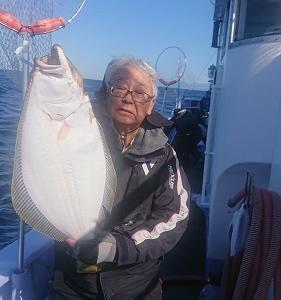 10月18日ヒラメ 小樽遊漁船シェイク