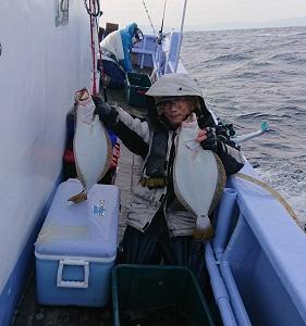 11月11日ヒラメ 小樽遊漁船シェイク