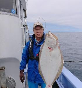 7月3日、4日ヒラメ 小樽遊漁船シェイク