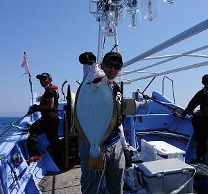 7月10日ヒラメ 小樽遊漁船シェイク