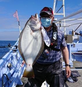 7月14日ヒラメ 小樽釣り船シェイク