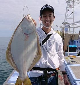 7月15日ヒラメ 小樽遊漁船シェイク