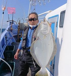 9月29日ヒラメ 小樽遊漁船シェイク