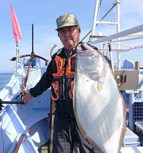 9月30日ヒラメ 小樽遊漁船シェイク