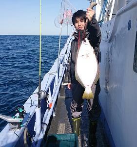 10月22日ヒラメ 小樽遊漁船シェイク