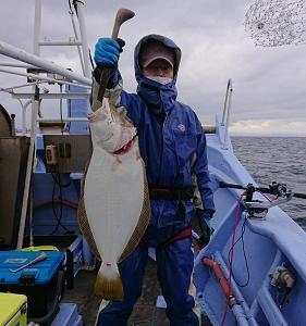 11月28日ヒラメ 小樽遊漁船シェイク