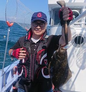 9月1日ヒラメ 小樽釣り船シェイク