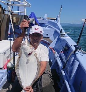 9月3日ヒラメ 小樽遊漁船シェイク