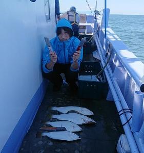 9月4日ヒラメ 小樽釣り船シェイク