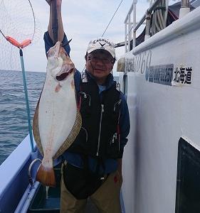 9月6日ヒラメ 小樽遊漁船シェイク