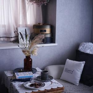 ドライフラワーでアンティーク調に♪穂ものグラミネ【秋の花色配色】スモーキーピンク&ベージュ茶