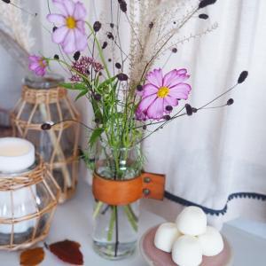 お月見にもオススメ♡コスモス&ススキで秋らしい花アレンジ♪