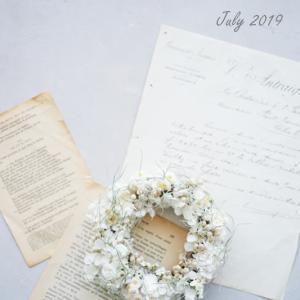 フレンチシックな夏色♡エクリュ色のドライフラワーリース作り♪【パリのお花屋さん7月レッスン案内