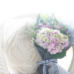 アンティーク色の紫陽花で大人シックなブーケ作り♪【パリのお花屋さんクラス・レッスン風景】