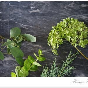 暑い夏にはグリーンがオススメ♪長持ちする葉&花!【フランススタイルフラワーの基本レッスン風景】